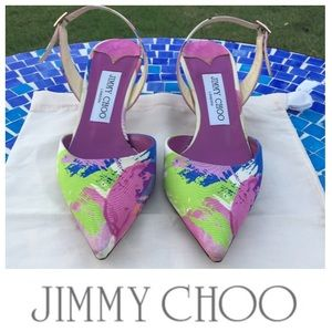 Jimmy Choo Varia floral Faille sling-back pump